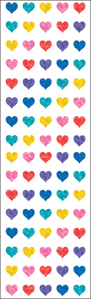 Mrs. Grossman's Stickers-Multicolor Micro Hearts