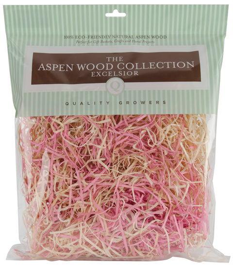 Quality Growers Aspenwood Excelsior 328 Cubic Inches-Pink & Natural
