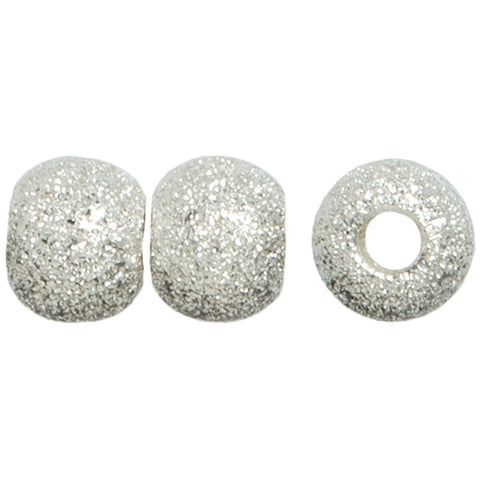 Plated Silver Elegance Metal Findings-Stardust Beads 6mm 8/Pkg