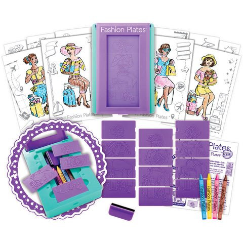 Fashion Plates Design Set-Travel 10/Pkg