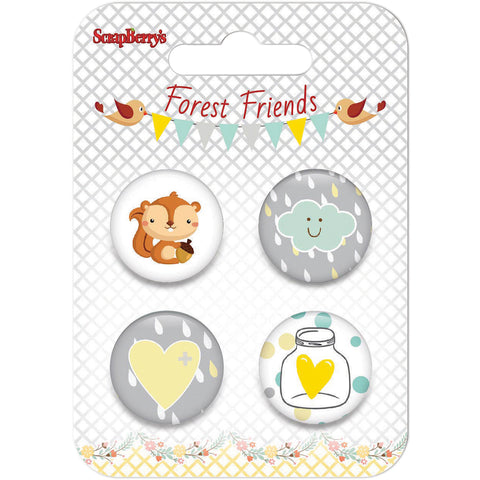 ScrapBerry's Forest Friends Embellishments-#1
