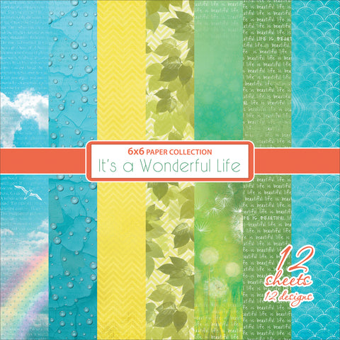 "ScrapBerry's It's A Wonderful Life Paper Pack 6""X6"" 12/Pkg-Single-Sided"