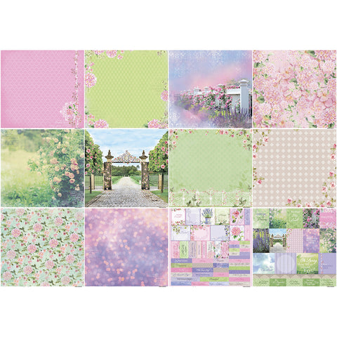 "ScrapBerry's In Bloom Paper Pack 12""X12"" 12/Pkg-"