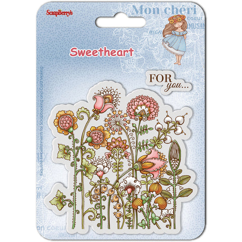 "ScrapBerry's Sweetheart Clear Stamps 4""X4""-Flowers"