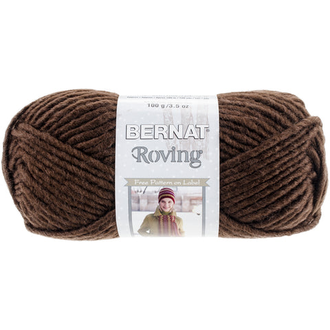 Bernat Roving Yarn-Chocolate Brown