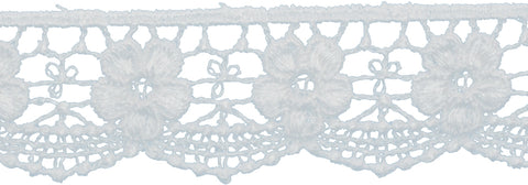 "Deco Trims Bold Floral Edge Venice Lace Trim 1-1/4""X5yd-White"