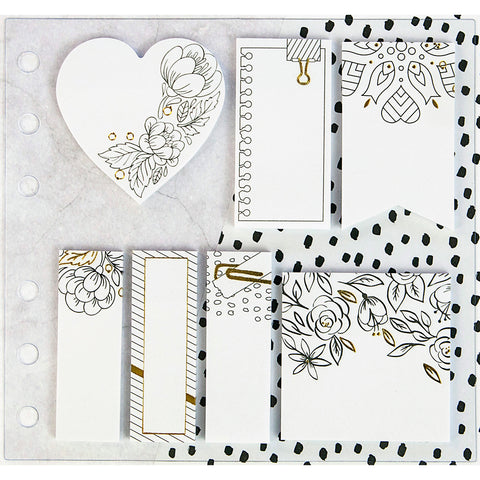 My Prima Planner Coloring Sticky Notes-7 Pads/20 Sheets Each