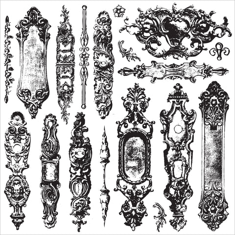 "Iron Orchid Designs Decor Clear Stamps 12""X12""-Hardware II"