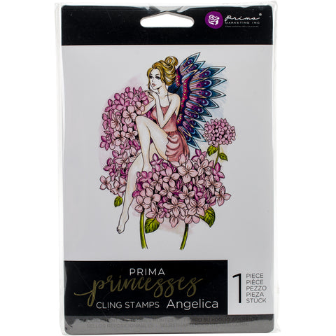 "Prima Marketing Princesses Cling Stamp 5""X7""-Angelica"