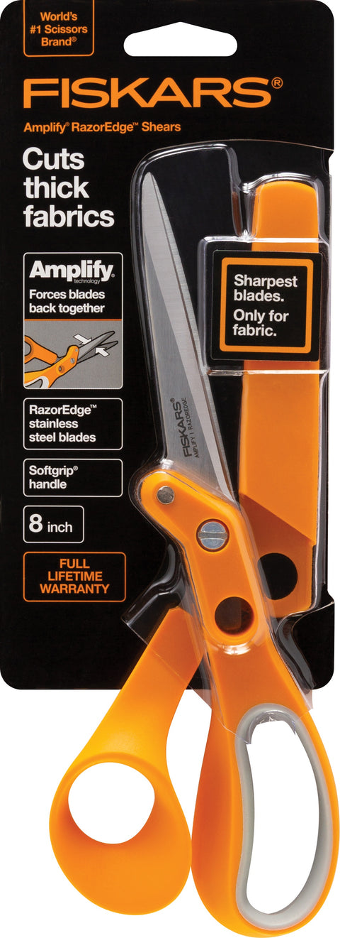 "Fiskars Amplify RazorEdge Fabric Scissors 8""-"