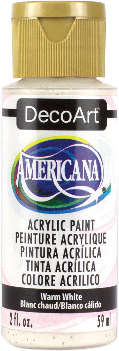 Americana Acrylic Paint 2oz-Warm White - Semi-Opaque