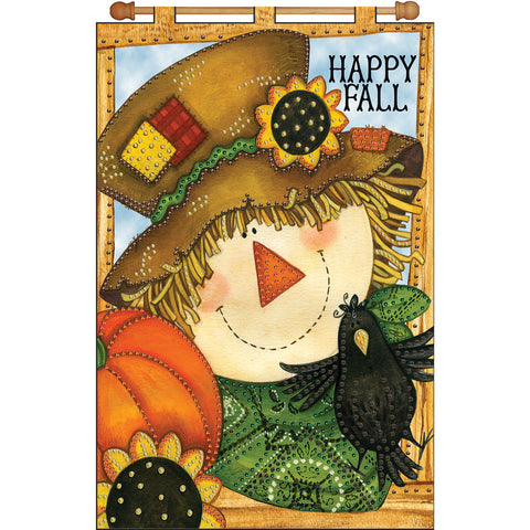 "Design Works Jeweled Banner Kit 16""X24""-Happy Fall"