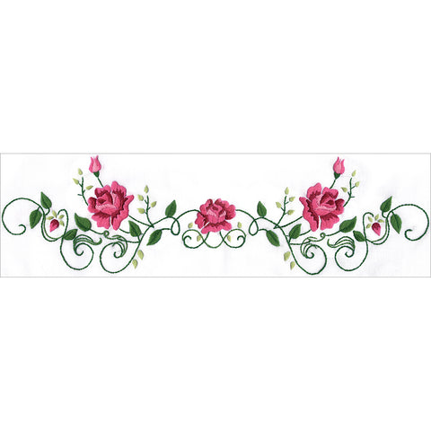 "Tobin Stamped For Embroidery Pillowcase Pair 20""X30""-Rose Vine"