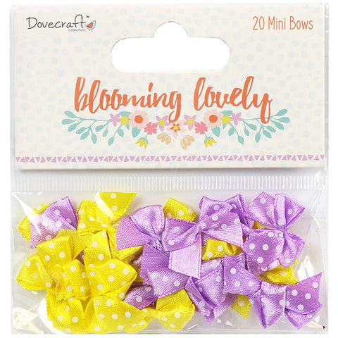 Dovecraft Blooming Lovely Mini Bows 20/Pkg-