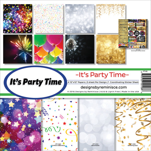 "Reminisce Collection Kit 12""X12""-It's Party Time"