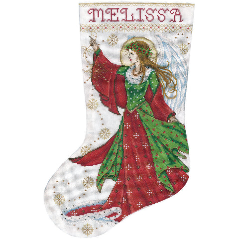 "Design Works Counted Cross Stitch Stocking Kit 17"" Long-Angel of Joy (14 Count)"