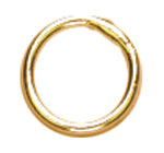 14k Plated Gold Elegance Beads & Findings-Closed Jump Rings 6mm 20/Pkg