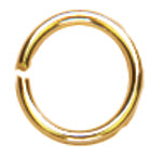 14k Plated Gold Elegance Beads & Findings-Open Jump Rings 4mm 30/Pkg