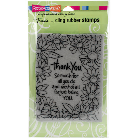 Stampendous Cling Stamp -Thank You Daisies