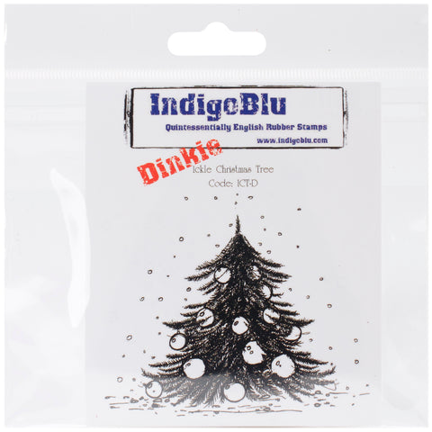 "IndigoBlu Cling Mounted Stamp 4""X3""-Ickle Christmas Tree - Dinkie"
