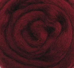 "Wistyria Editions Wool Roving 12"" .22oz-Raspberry"