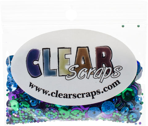 Clear Scraps Sequin Multi Pack 350 To 400 Pieces-Little Dude