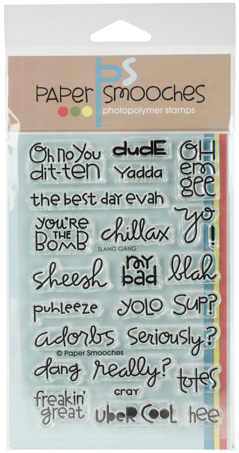 "Paper Smooches Clear Stamps 4""X6"" -Slang Gang"