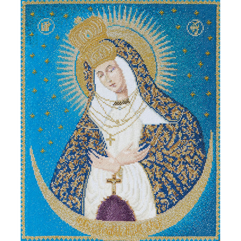 "Thea Gouverneur Counted Cross Stitch Kit 9.75""X11.75""-Our Lady Of The Gate On"