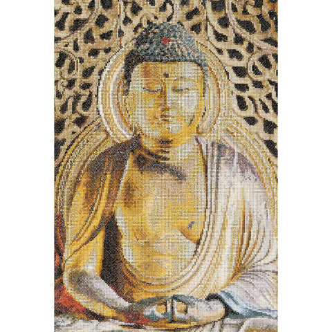 "Thea Gouverneur Counted Cross Stitch Kit 8.75""X13""-Buddha On Aida (18 Count)"