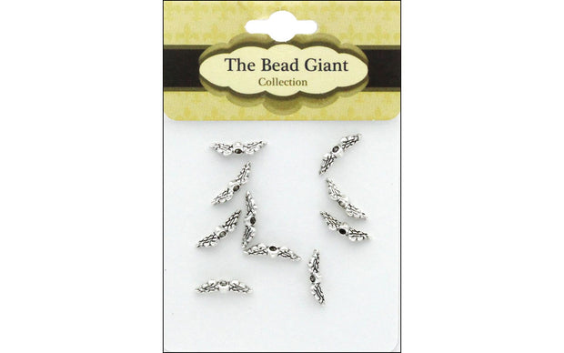 The Bead Giant Bead Angel Wing Mini 10pc Silver