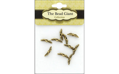 The Bead Giant Bead Angel Wing Mini 10pc Gold