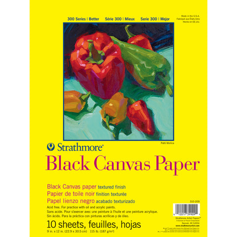 "Strathmore Canvas Paper Pad 9""X12""-10 Sheets"