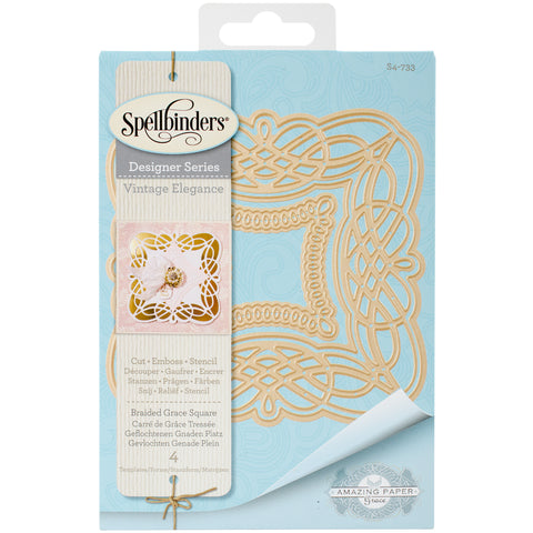 Spellbinders Nestabilities Dies-Braided Grace Square