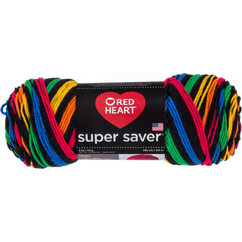 Red Heart Super Saver Yarn-Primary Stripes