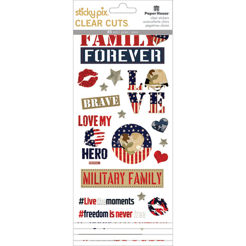 Paper House Sticky Pix Clear Cuts Stickers 5/Pkg-Homefront Girl