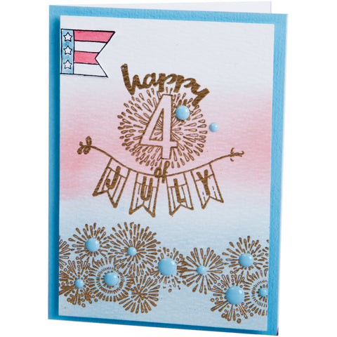 Sizzix Clear Stamps By Jen Long-Fireworks & Sparklers
