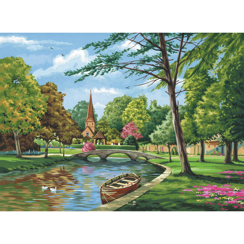 "Paint By Number Kit Artist Canvas Series 11""X14""-Church By The River"