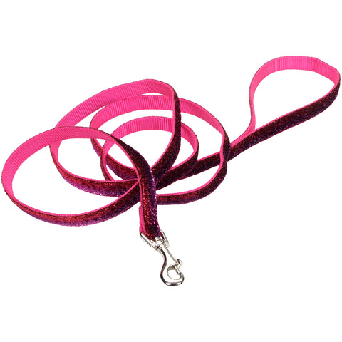 "Pet Attire 5/8"" Sparkles Dog Leash 6'-Pink"