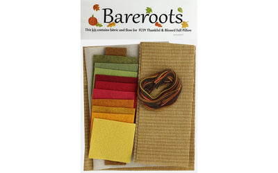 Bareroots Fabric&Floss Kit Thankful&Blessed Pillow