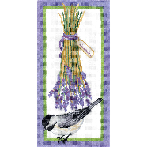 "Janlynn Counted Cross Stitch Kit 6""X12""-Floral Chickadee (14 Count)"