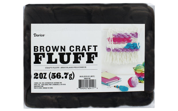 Darice Craft Fluff 2oz Brown