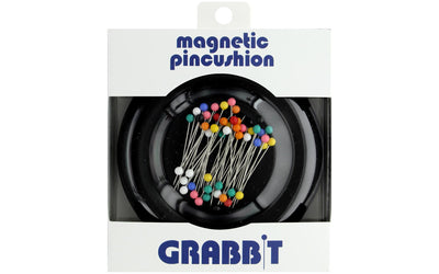 Blue Feather Grabbit Magnetic Pincushion Black