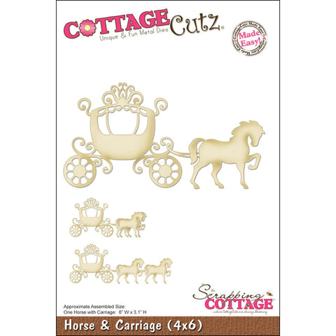 "CottageCutz Die-Horse & Carriage 6""X3.1"""