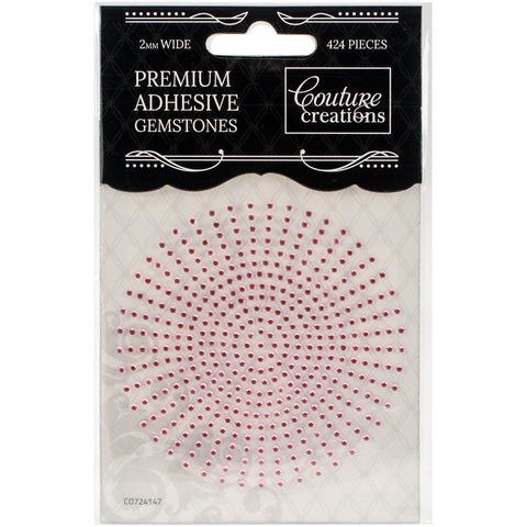 Couture Creations Adhesive Gemstones 2mm 424/Pkg-Pink Lace