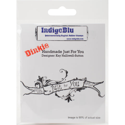 "IndigoBlu Cling Mounted Stamp 4""X3""-Handmade Just For You"