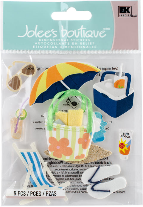Jolee's Boutique Dimensional Stickers-Summer Gear