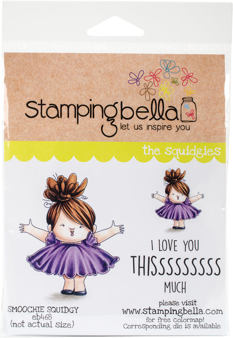 "Stamping Bella Cling Stamp 6.5""X4.5""-Smoochie Squidgy"