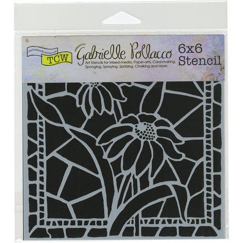 "Crafter's Workshop Template 6""X6""-Stained Glass Daisies"