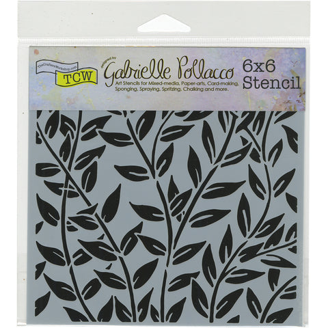 "Crafter's Workshop Template 6""X6""-Jungle Vines"