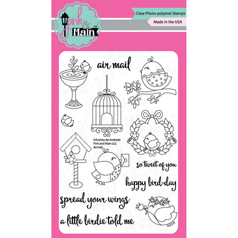 "Pink & Main Clear Stamps 4""X6""-Airmail"
